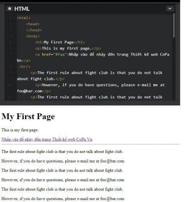 lien ket trong html