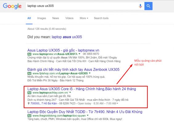 quang cao google adwords tai bmt daklak