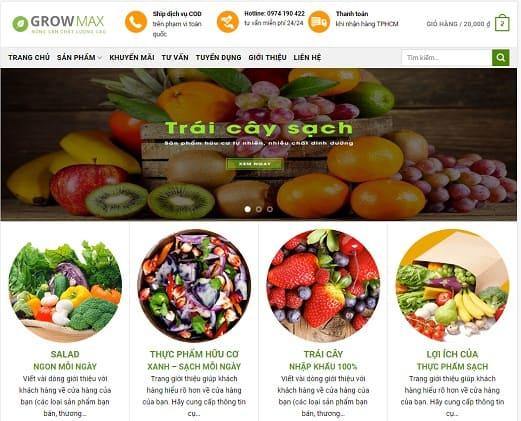 website ban trai cay sach growmax