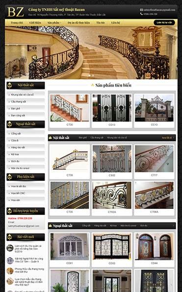 thiết kế web đắk lắk sắt mỹ thuật