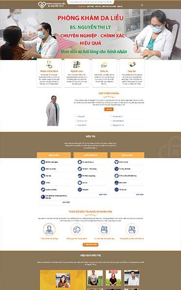 thiết kế web daklak giới thiệu phòng khám da liễu