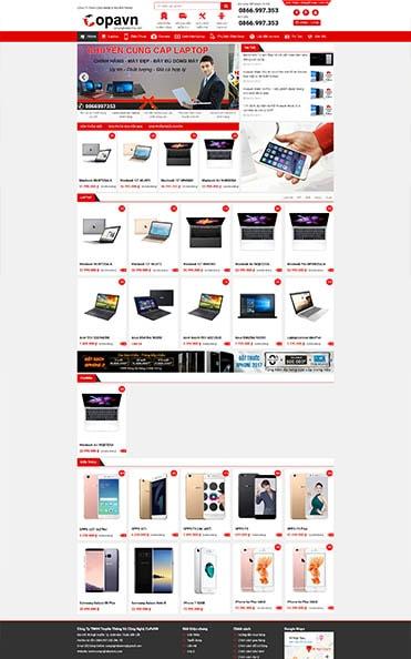 thiết kế web tại buôn ma thuột bán hàng công nghệ